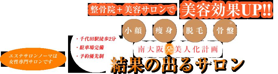 整骨院+美容サロンで美容効果UP!南大阪発美人化計画 結果の出るサロン